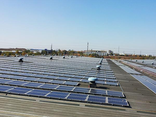 2014年集团850万kWh光伏发电站投入使用
